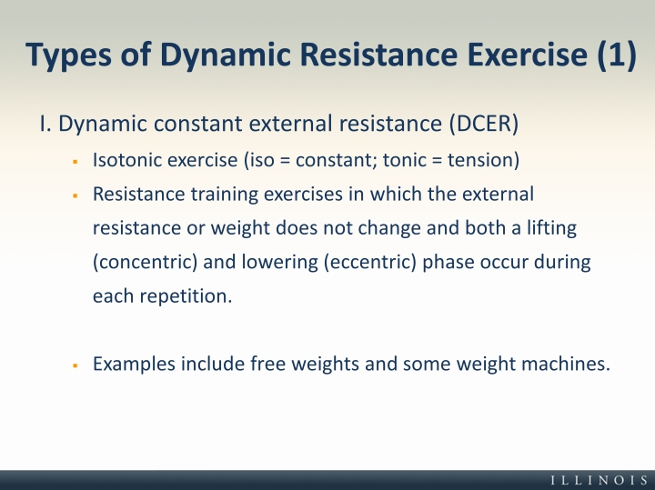 Types of Dynamic Resistance Exercise (1)