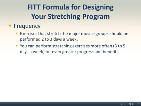 FITT Formula for Designing Your Stretching Program