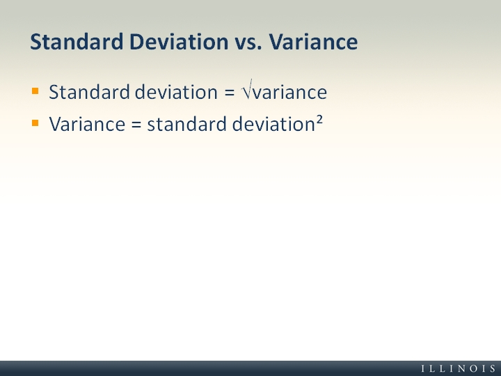 What Does Sd Mean >> Standard Deviation vs. Variance