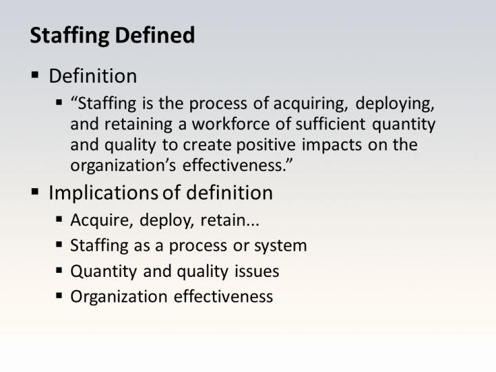Staffing Defined
