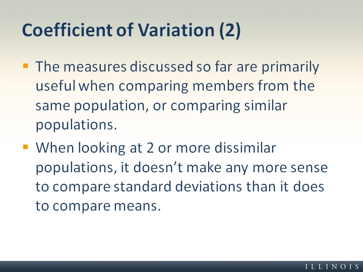 What Does Sd Mean >> Coefficient of Variation (2)